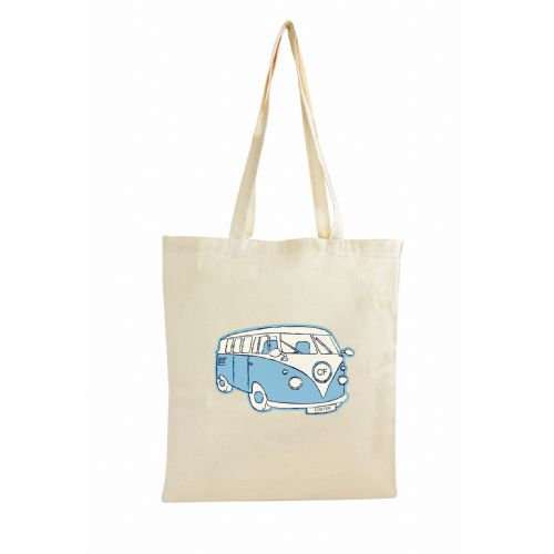 Personalised Blue Campervan Cotton Bag